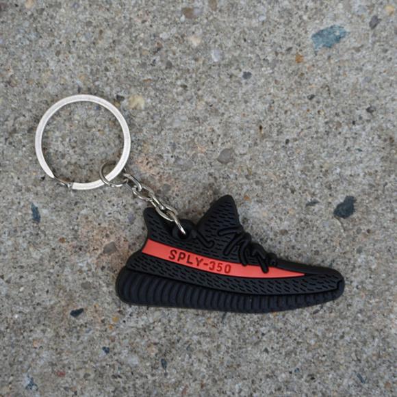 df70bde97a6 Adidas Yeezy Boost 350 V2 Red Stripe Shoe Keychain.  M 5ac141e761ca10dc5e392d32